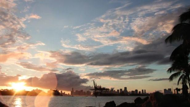 Time lapse Miami Beach